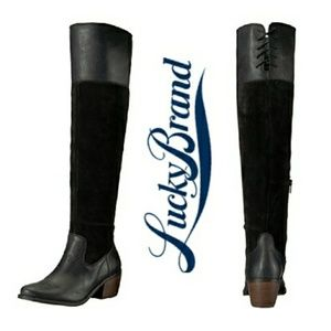 Lucky Brand Western Inspired OTK Boots